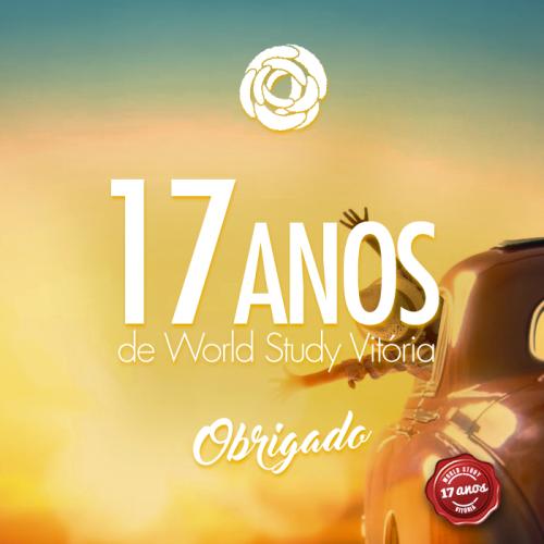 A World Study completa 17 anos em Vitória. Vem comemorar com a gente!