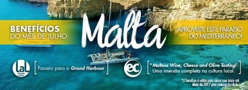 Benefícios: matrículas em julho para Malta